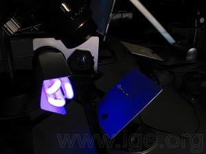 Iluminación para fotografías en luz UV.