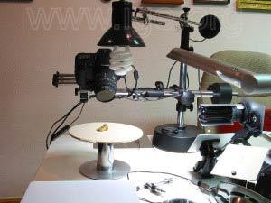 Mesa giratoria para obtención de fotografías panorámicas.
